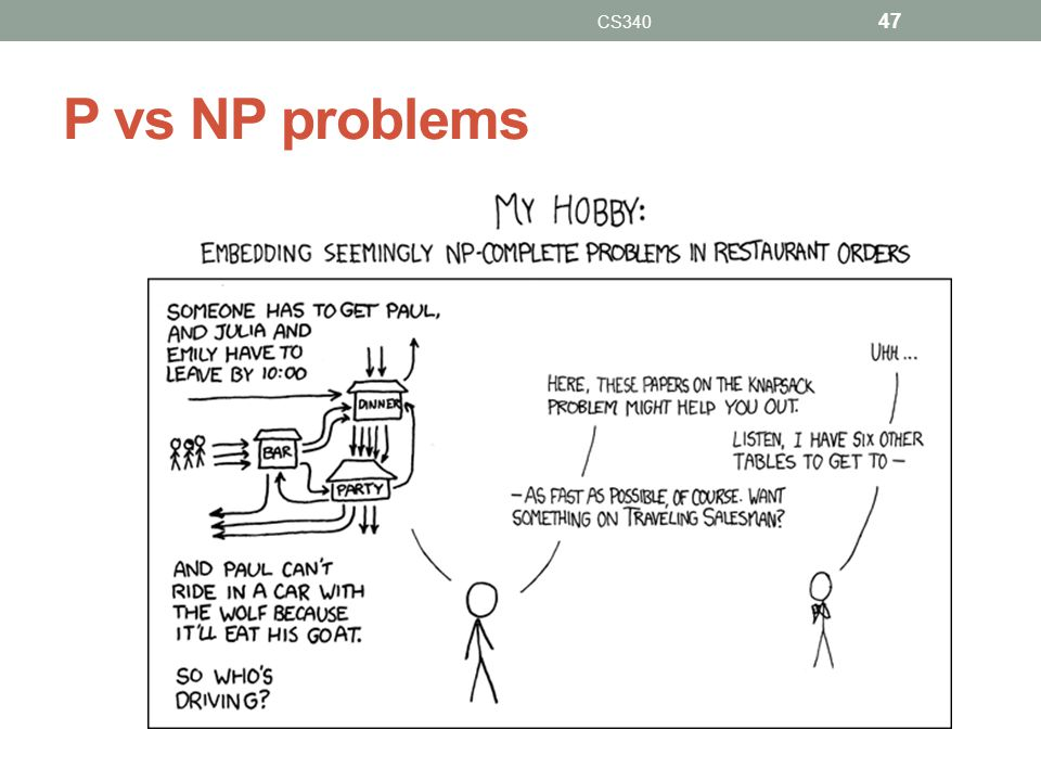 CS340 P vs NP problems
