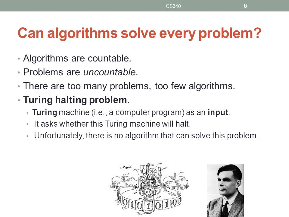 Can algorithms solve every problem