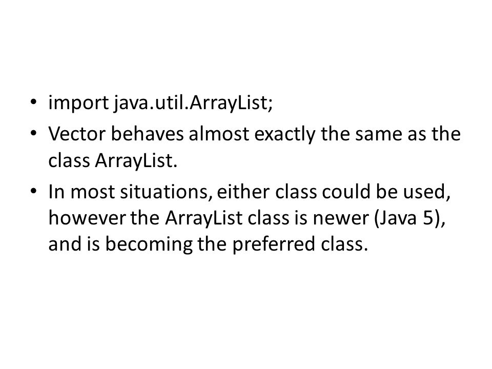 import java.util.ArrayList;