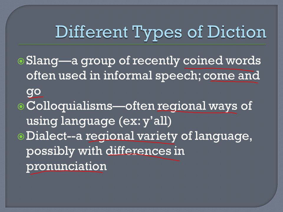 Different Types of Diction