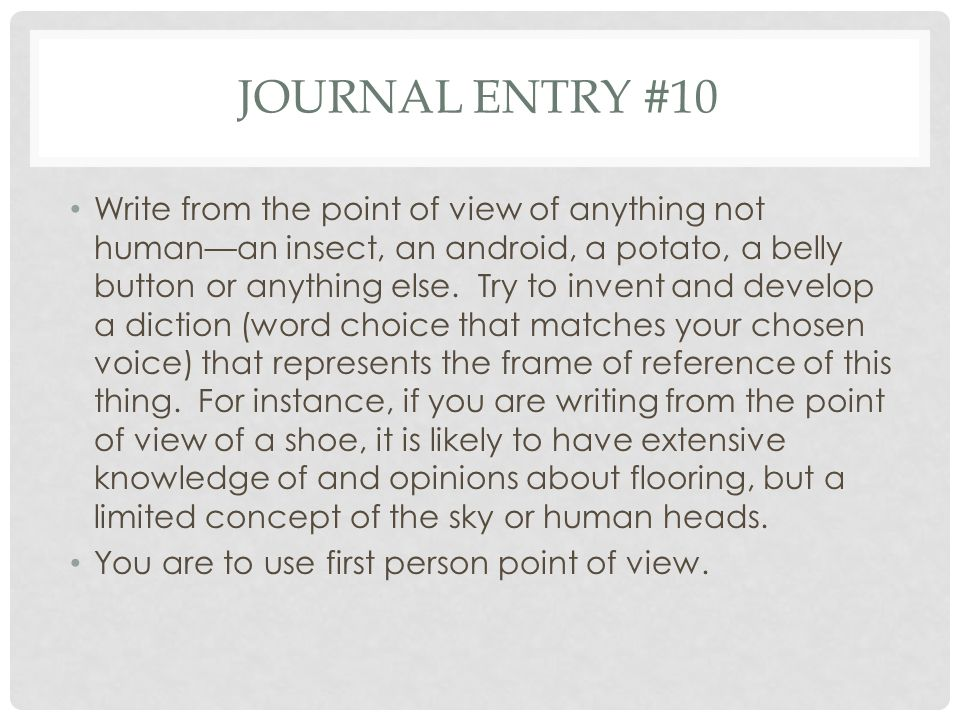 Journal entry #10