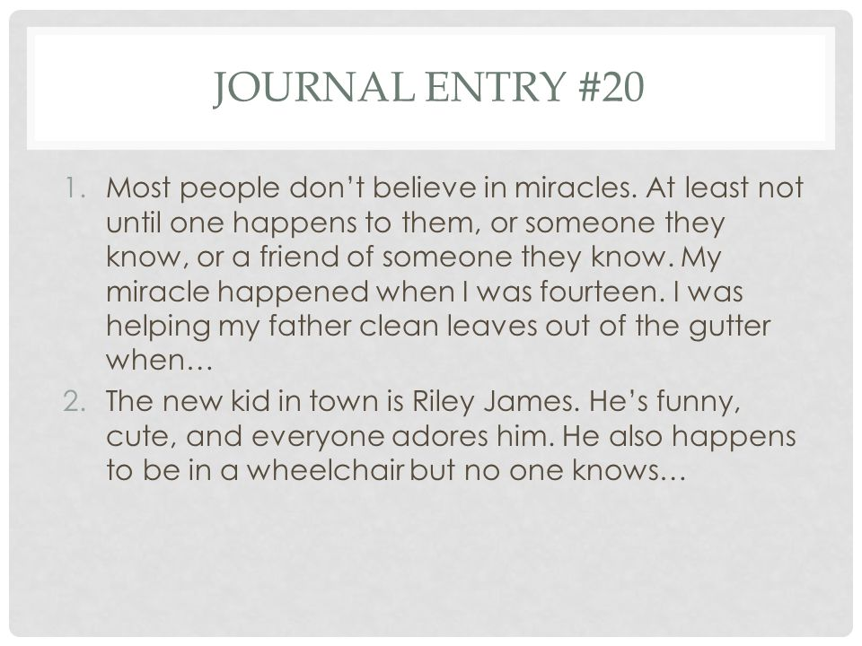 Journal entry #20