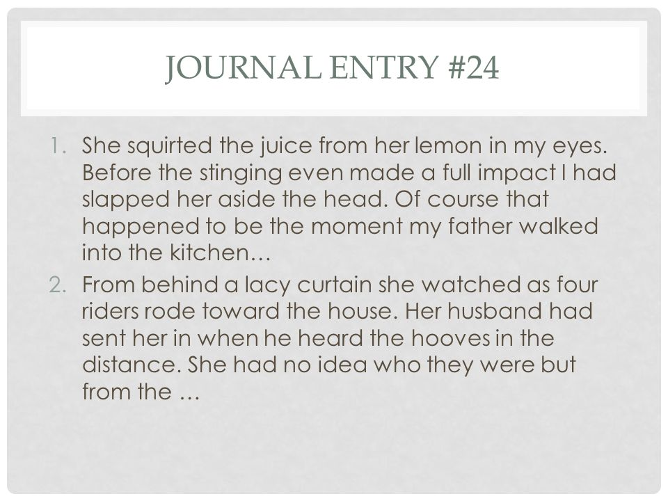 Journal entry #24