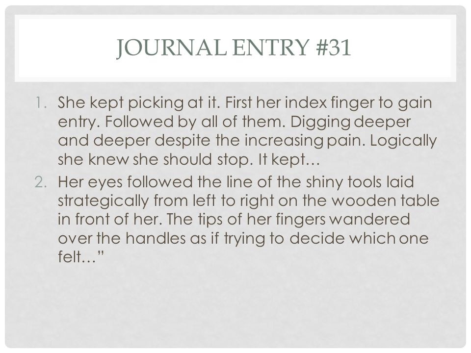 Journal entry #31