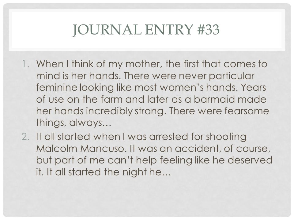 Journal entry #33