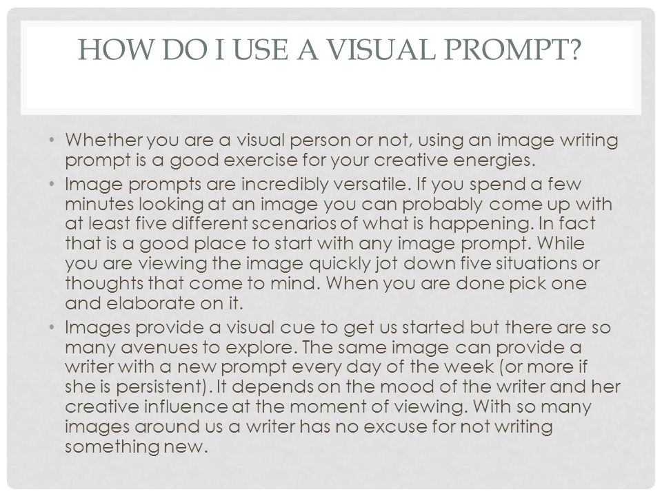 How do I use a visual prompt