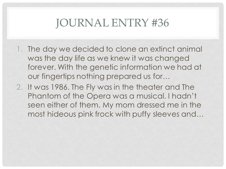 Journal entry #36