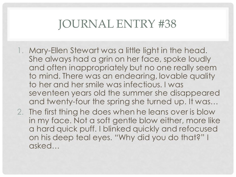 Journal entry #38