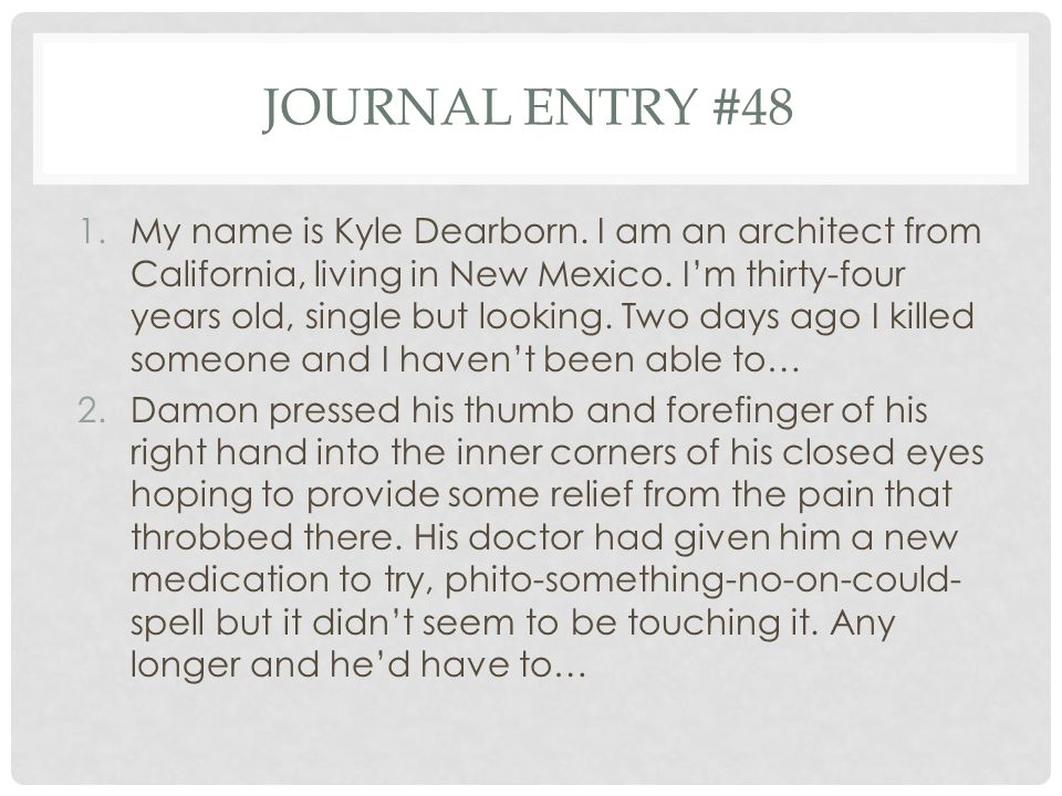 Journal entry #48