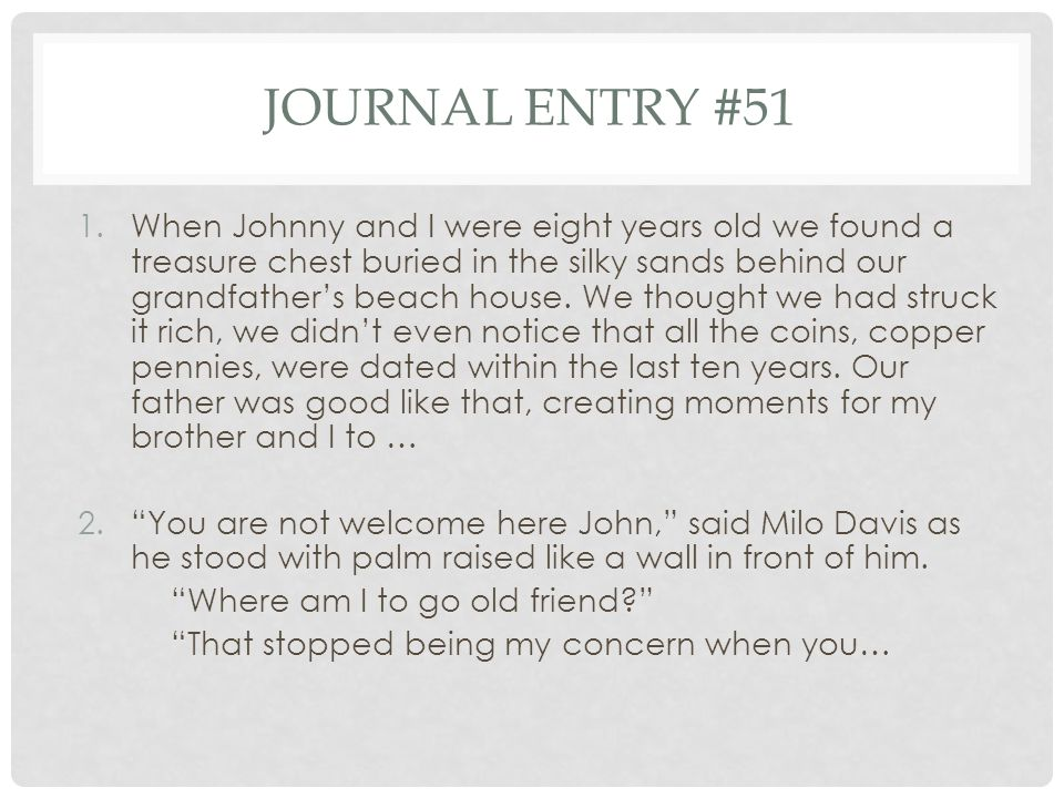 Journal entry #51