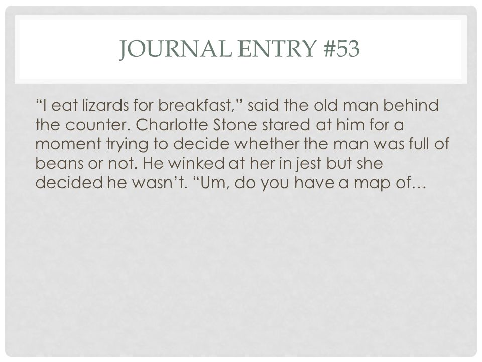 Journal entry #53