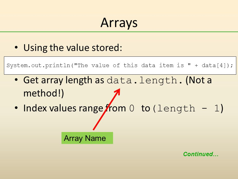 how to add numbers stored in an array java