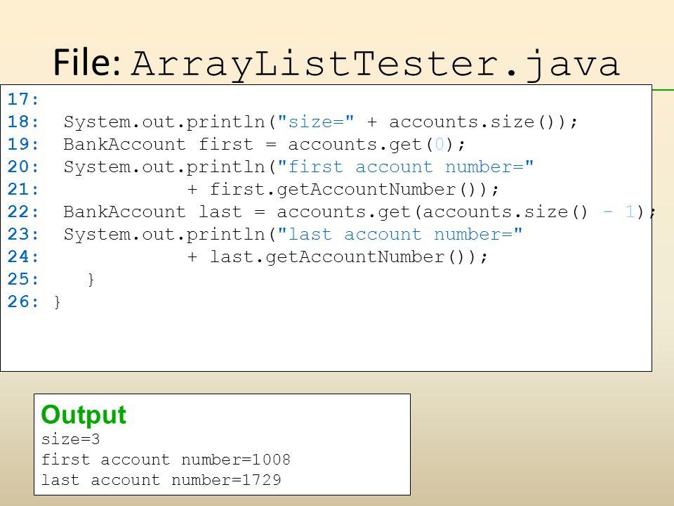 File: ArrayListTester.java