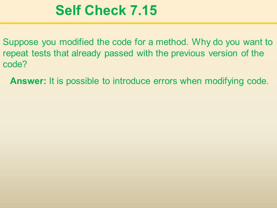 Self Check 7.15