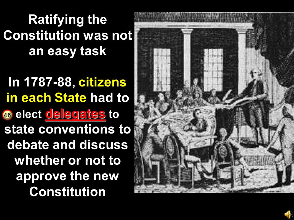 Ratifying the Constitution was not an easy task