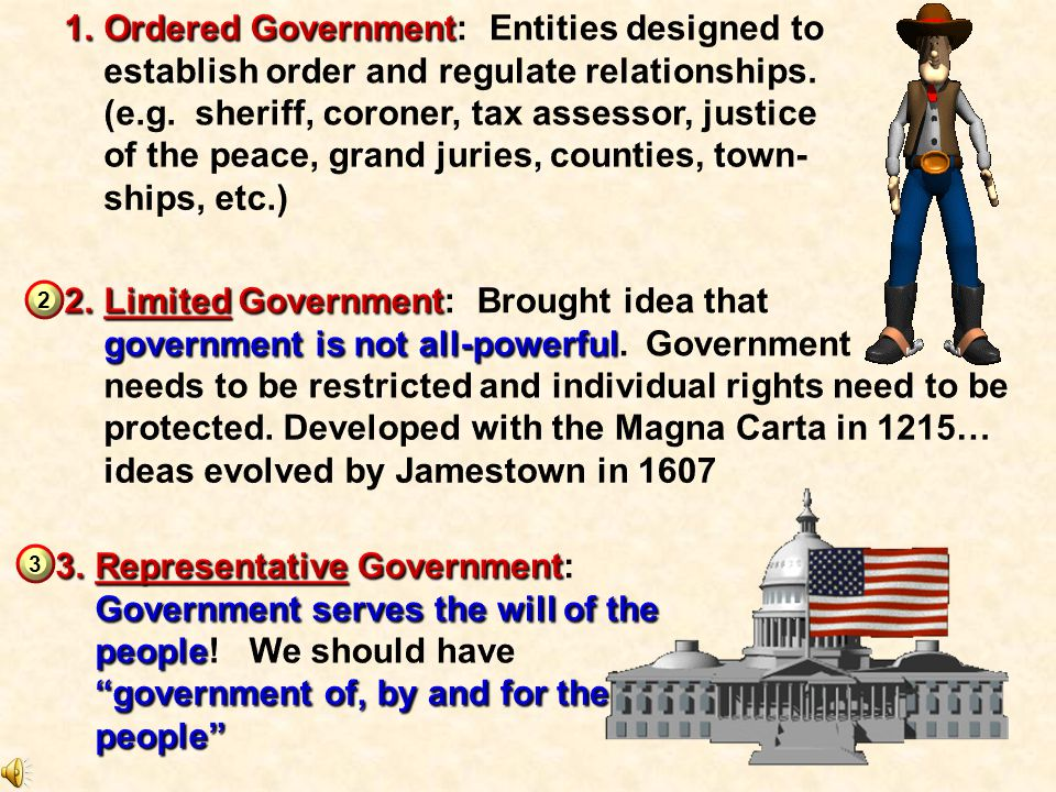 Ordered Government: Entities designed to