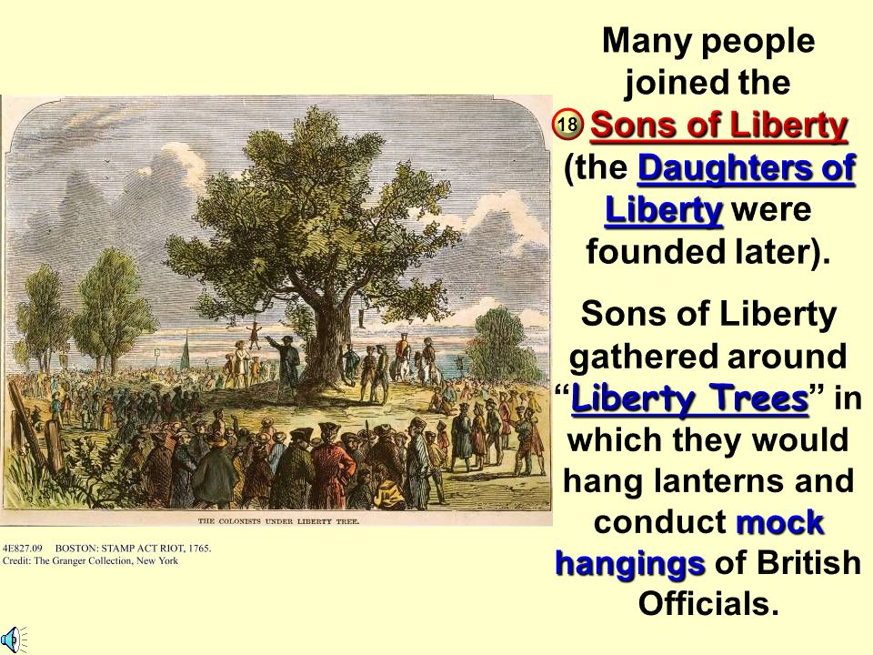 Sons of Liberty (the Daughters of Liberty were founded later).