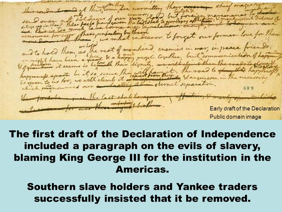 Early draft of the Declaration