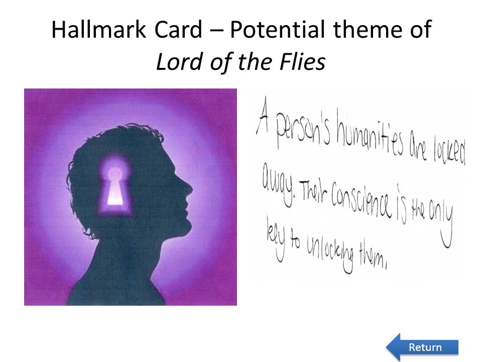 Hallmark Card – Potential theme of Lord of the Flies