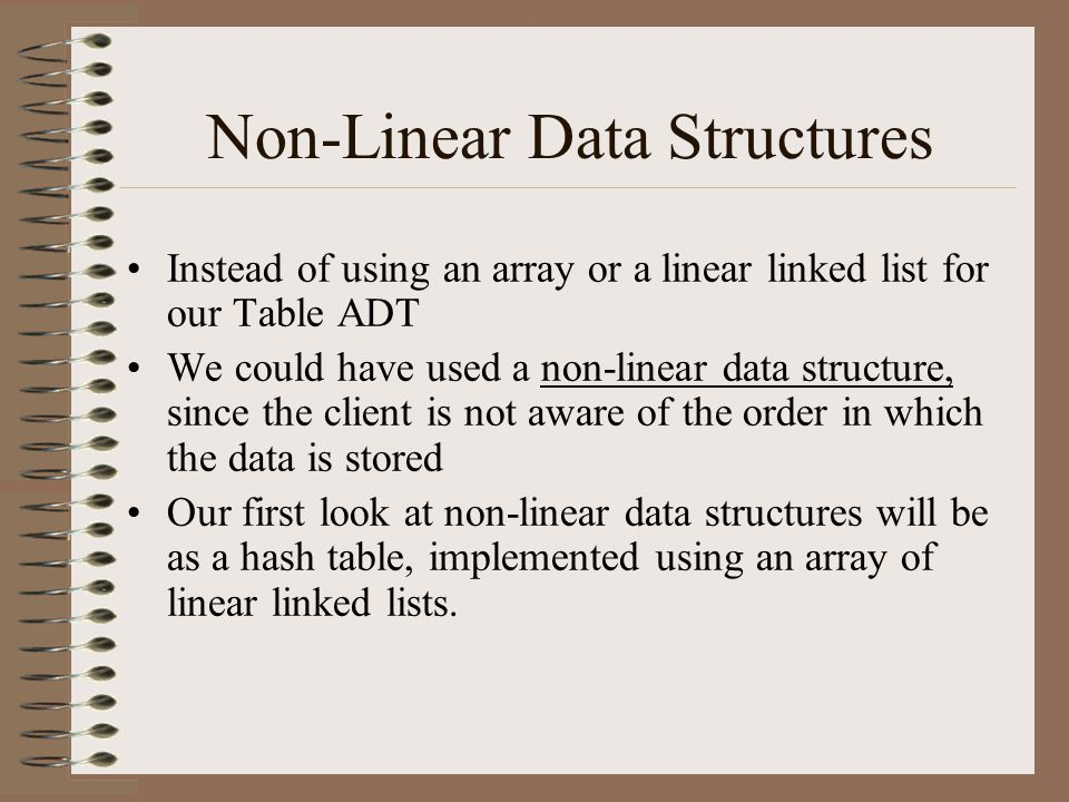 Non-Linear Data Structures