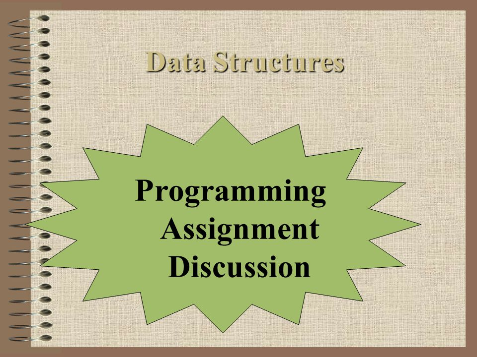 Programming Assignment Discussion