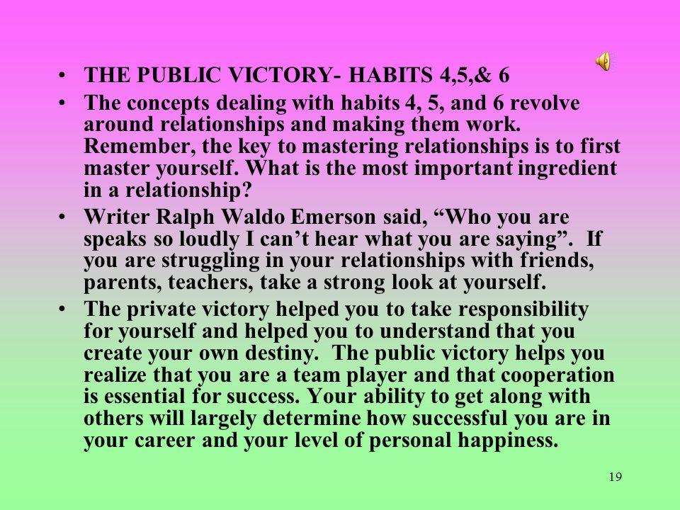 THE PUBLIC VICTORY- HABITS 4,5,& 6