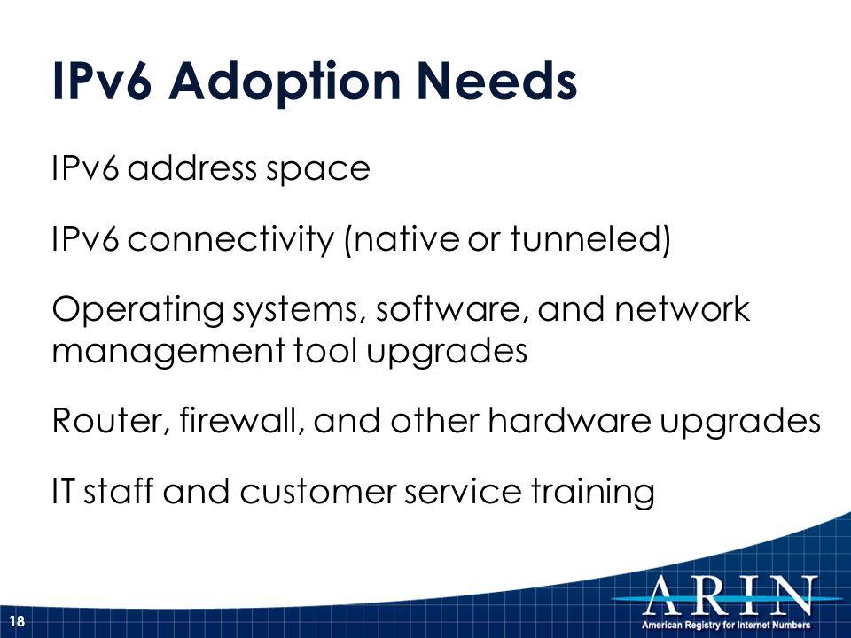 IPv6 Adoption Needs IPv6 address space