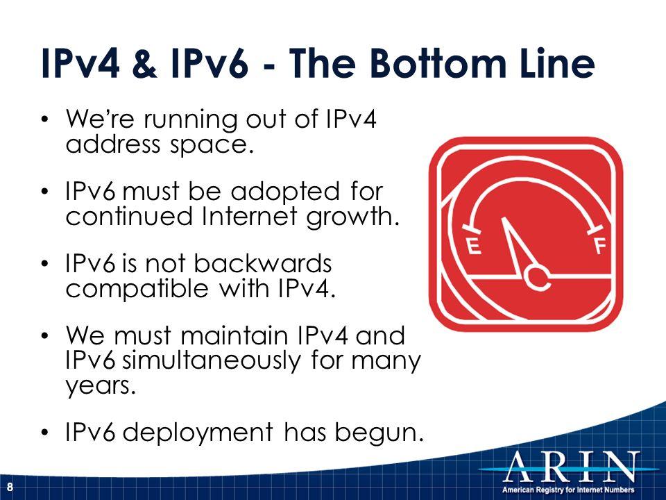 IPv4 & IPv6 - The Bottom Line