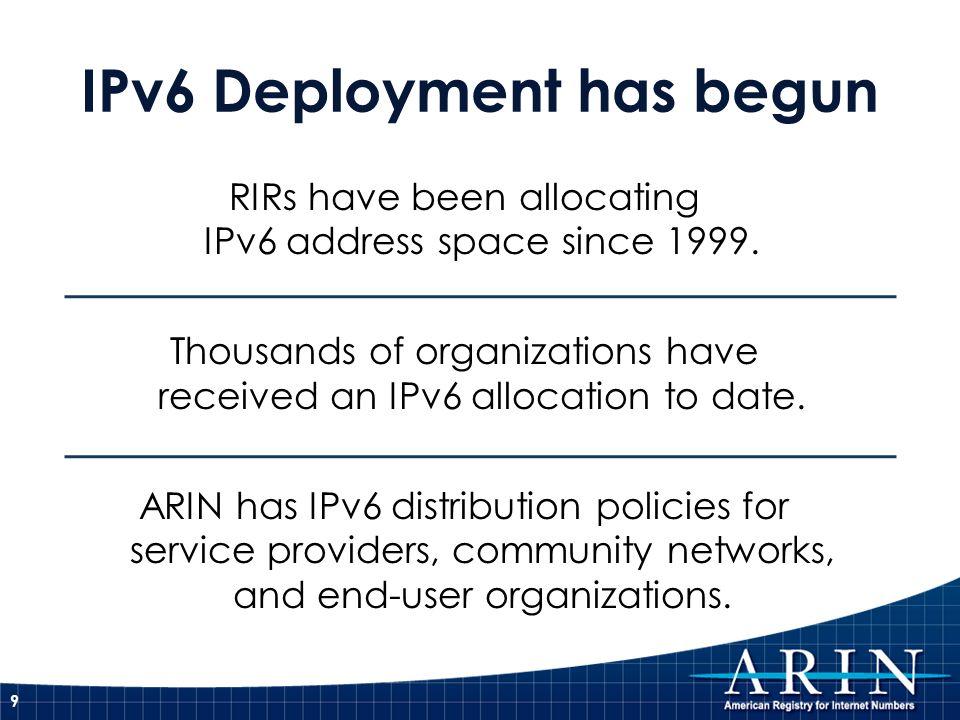 IPv6 Deployment has begun