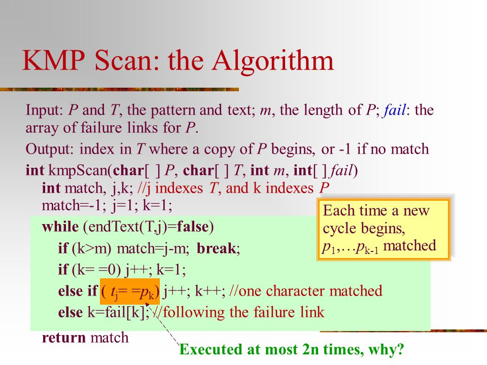 KMP Scan: the Algorithm