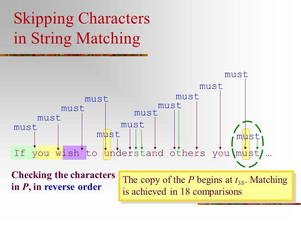 Skipping Characters in String Matching