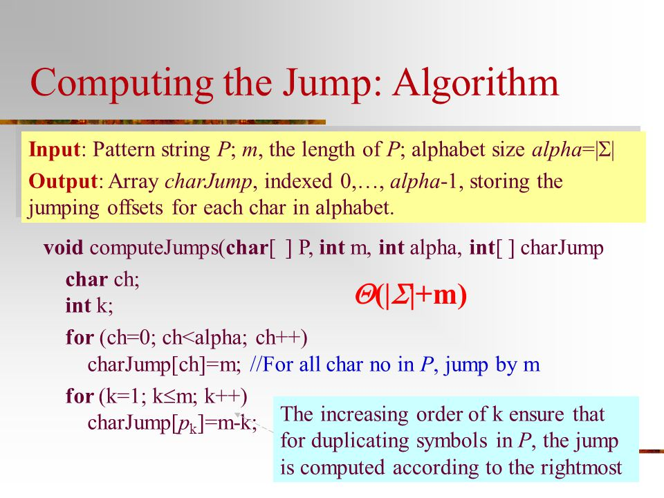 Computing the Jump: Algorithm