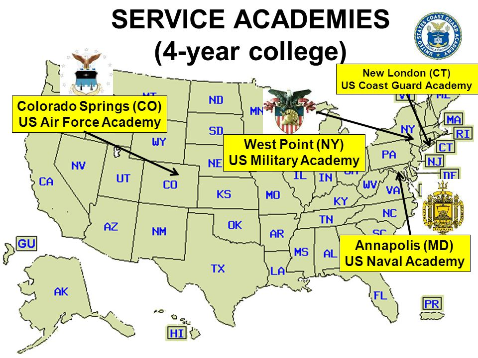 SERVICE ACADEMIES (4-year college)