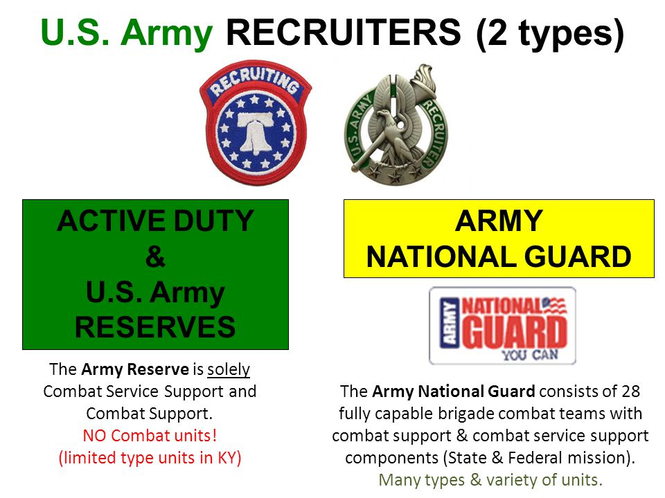 U.S. Army RECRUITERS (2 types)