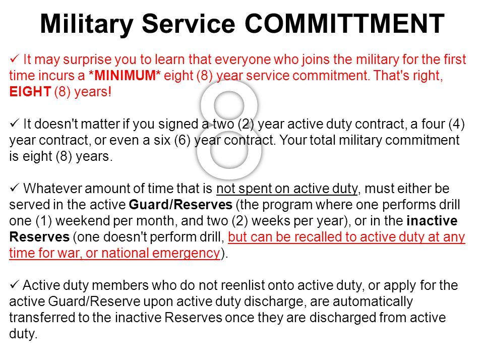 Military Service COMMITTMENT