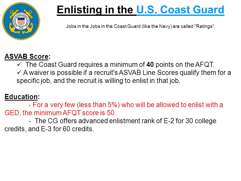Enlisting in the U.S. Coast Guard