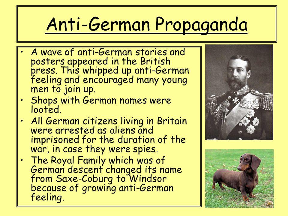 Anti-German Propaganda