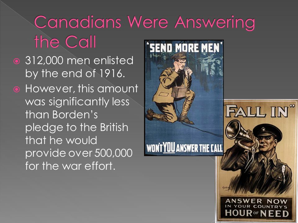Canadians Were Answering the Call
