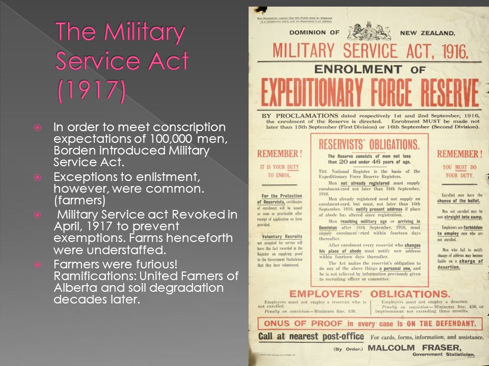 The Military Service Act (1917)