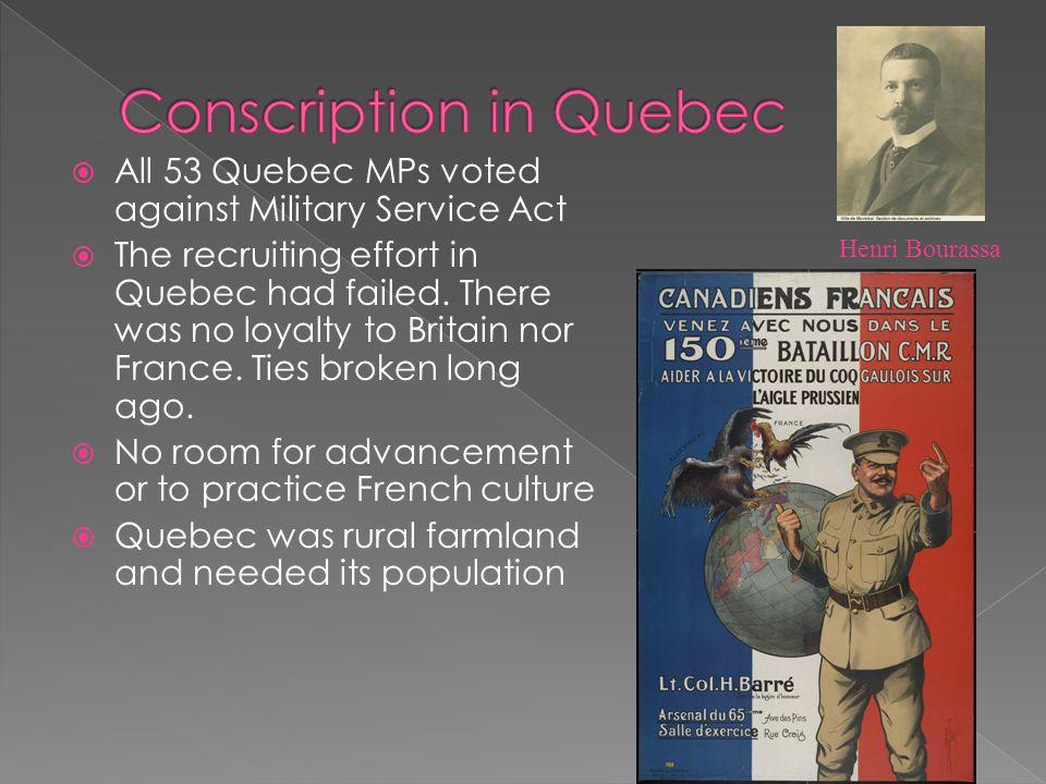 Conscription in Quebec