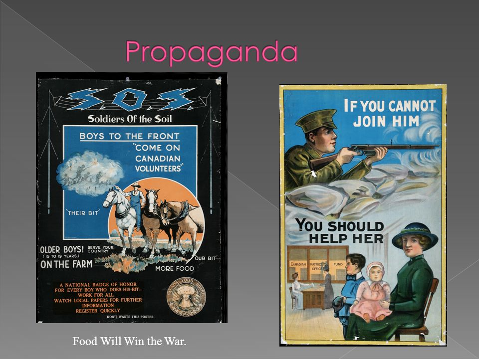 Propaganda Food Will Win the War.