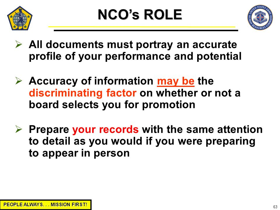 Role of a nco