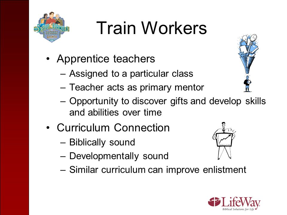 Train Workers Apprentice teachers Curriculum Connection