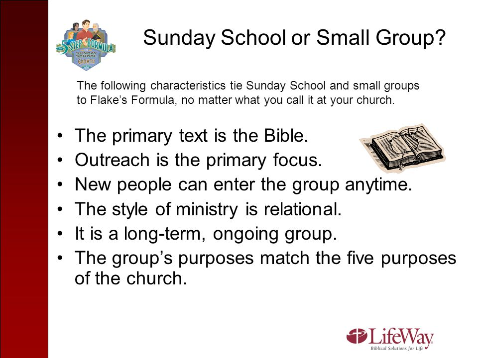 Sunday School or Small Group