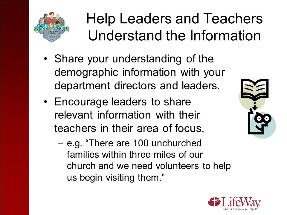 Help Leaders and Teachers Understand the Information