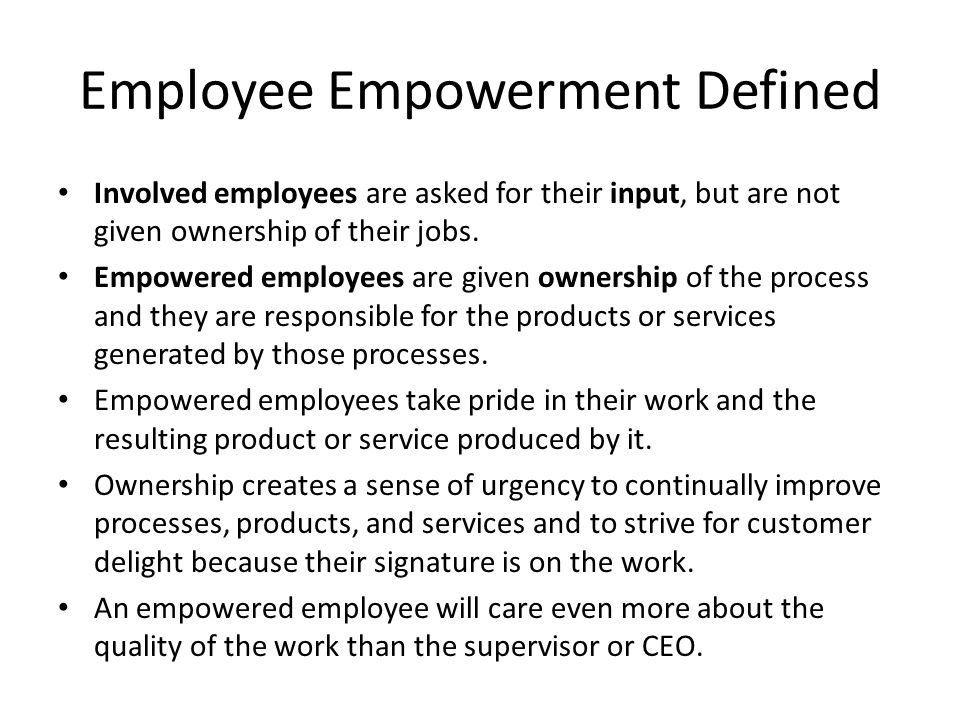 Employee Empowerment Defined