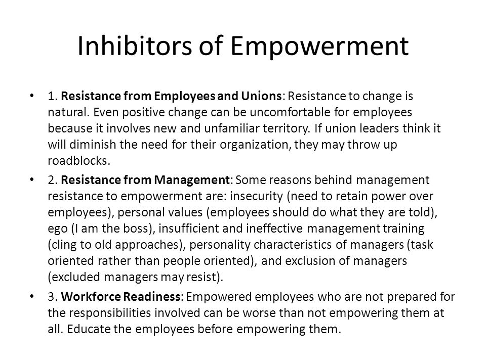 Inhibitors of Empowerment