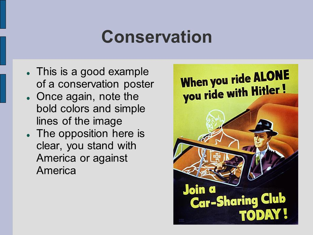 Conservation This is a good example of a conservation poster