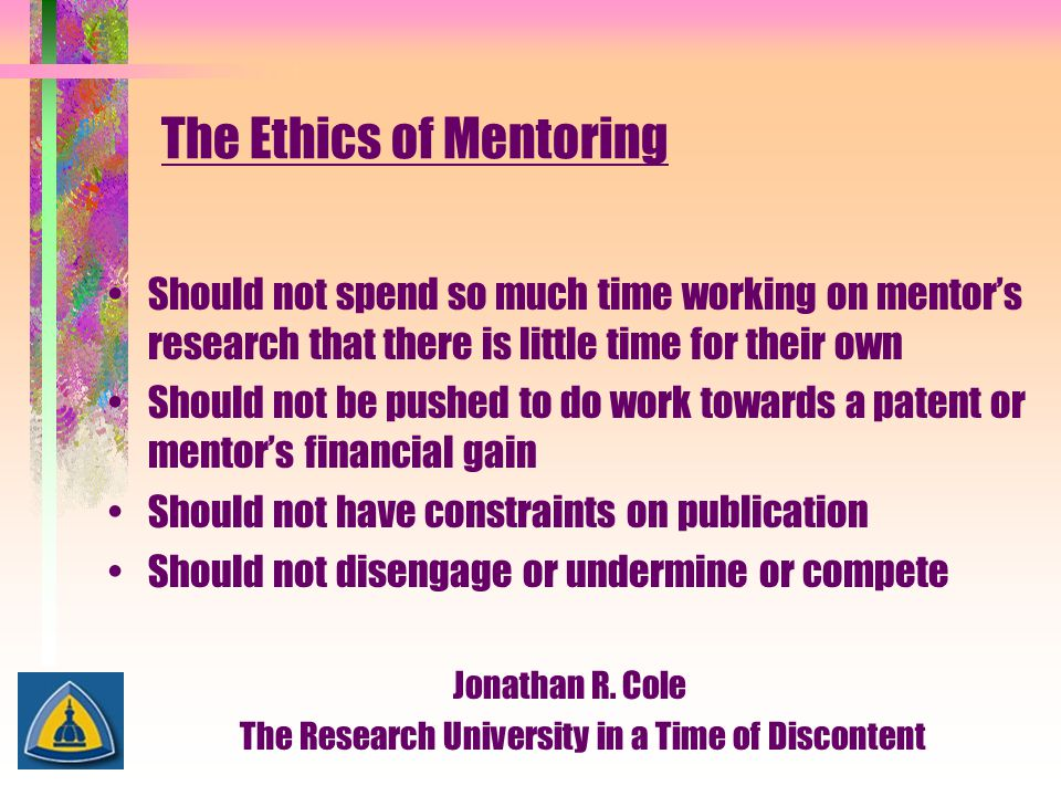 The Ethics of Mentoring