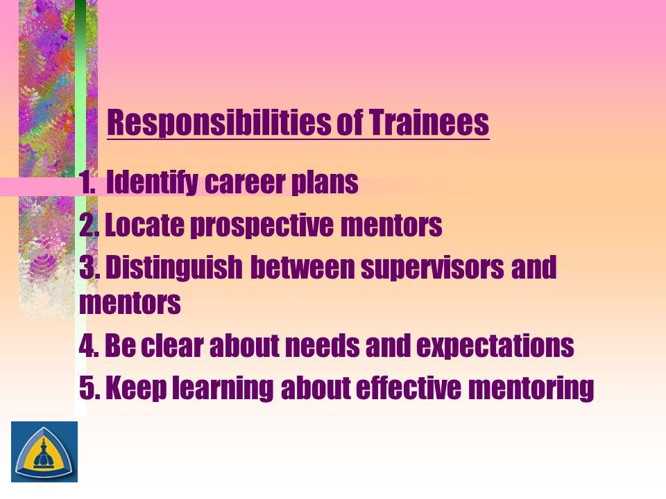Responsibilities of Trainees